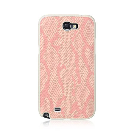 Insten Snake Skin Rubber Coated Hard Snap-in Case Cover For Samsung Galaxy Note II, Pink