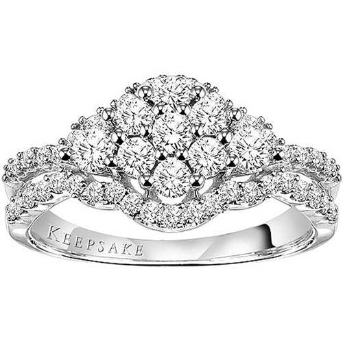 Keepsake Lavish 1 Carat T.W.  Diamond Engagement Ring in 10K White Gold