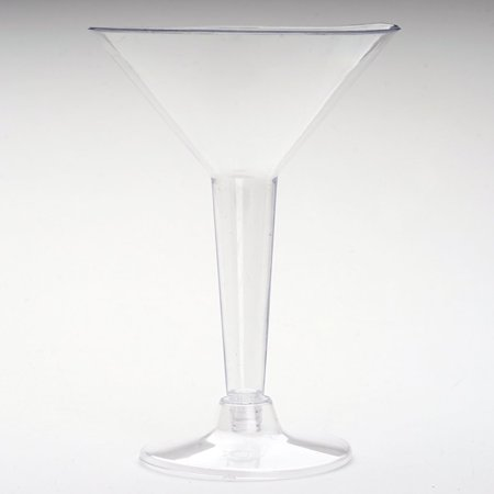 Efavormart 24 Pcs  - Clear 5oz Disposable Martini Glass - Crystal Collection For Wedding party Catering Home use](Orange Martini Glasses)