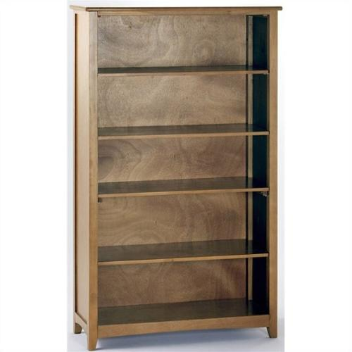 NE Kids School House Tall Vertical Bookcase in Pecan