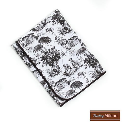 Baby Milano Baby Blanket in Black Toile