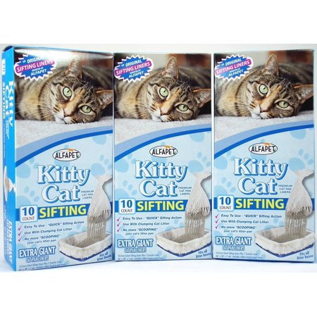 Alfapet Kitty Cat Sifting Litter Box Liners, 40