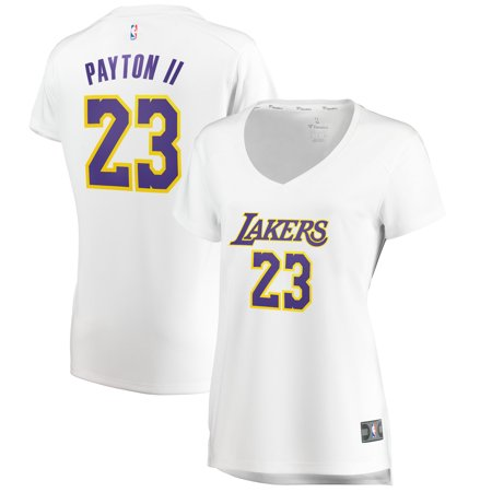 Walter Payton White Jersey (Gary Payton Los Angeles Lakers Fanatics Branded Women's Fast Break Replica Jersey Association Edition - White )