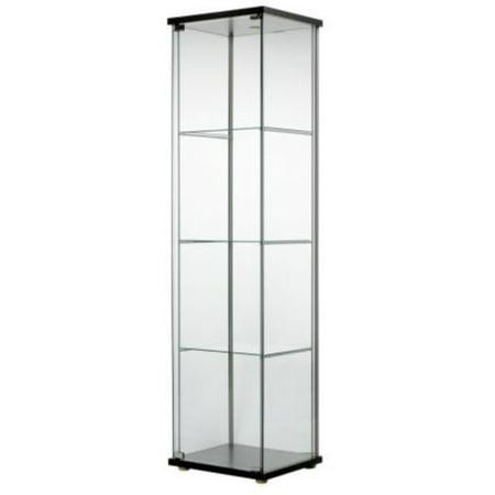 Ikea Detolf Glass Curio Display Cabinet Black , Light Is Included 626.5298.214 (Ikea Glass Cabinet)