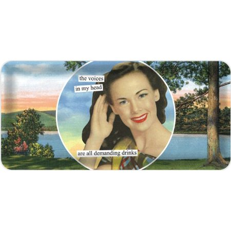 Anne Taintor Hostess Tray, Voices in My Head