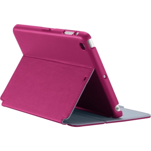 Speck StyleFolio Case for iPad Mini/2/3 - Fuchsia Pink/Nickel Grey