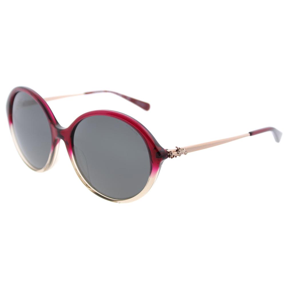 Coach Asian Fit L1650 HC 8214F 547387 Women's Round Sunglasses