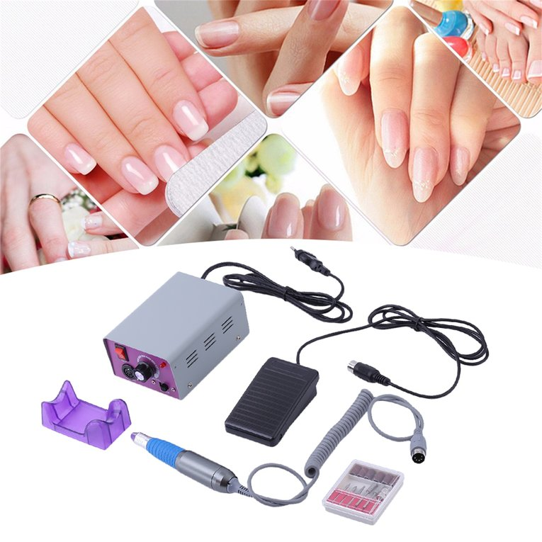 Professional Electric Nail File Acrylic Pedicure Drill Sand Machine Set