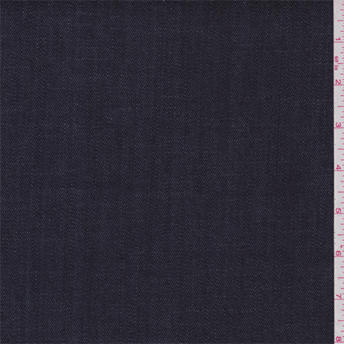 Dark Navy Blue Denim, Fabric Sold By the Yard