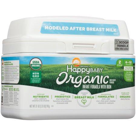 Happy Baby Organics Organic Stage 2 Milk Based Powder with Iron Infant Formula 21 oz.