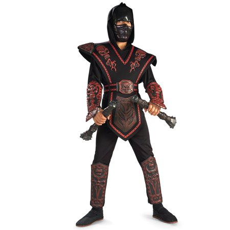 Boy's Red Skull Ninja Warrior Costume