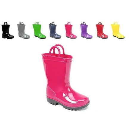 Ska Doo Kids Toddler Rain Boots Assorted Colors - Girl In Red Boots