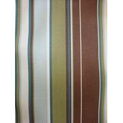 Antigua Dining Arm Chair in Royal Oak-Fabric:Green & Brown Stripes