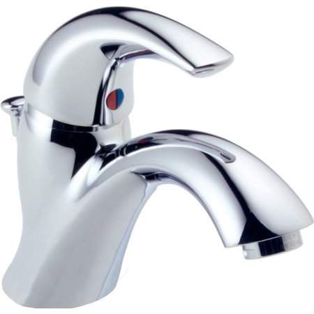Delta Faucet Classic Single Handle Bathroom Faucet With Drain