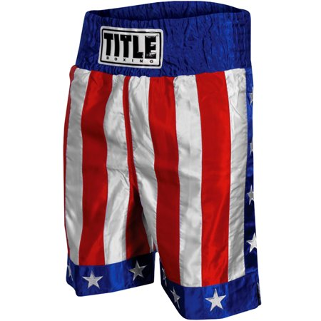 Knee Boxing Trunks (Title Boxing American Flag 4