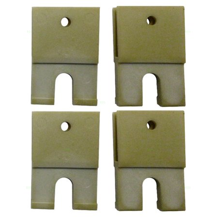 Window Regulator Guide - 4 Piece Set of Window Regulator Sash Connector Channel Guide Attaching Clips Replacement for Buick Chevrolet Pontiac 22541970