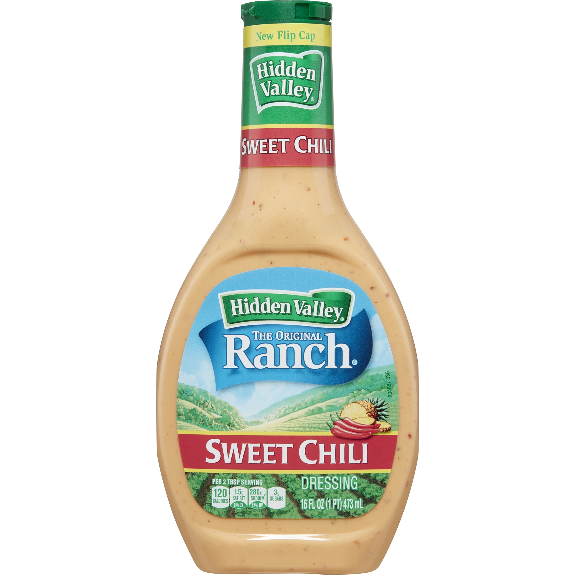 Hidden Valley Sweet Chill Ranch Salad Dressing & Topping, Gluten Free - 16 oz Bottle