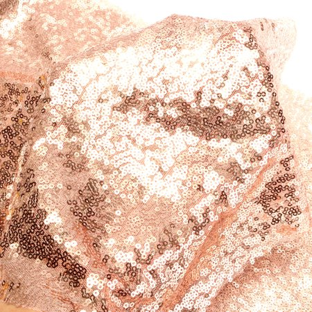 Rose Gold Glitter Sequin Table Runner Cloth Sparkly Cover Wedding Party Decor
