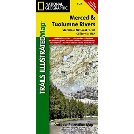 National Geographic Maps: Trails Illustrated: Merced and Tuolumne Rivers [stanislaus National Forest] - Folded