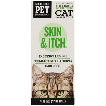 Natural Pet Skin   Itch Irritation Relief For Cats  All Natural  Homeopathic Medicine For The Symptomatic Relief Of Skin Irritations By Natural Pet Pharmaceuticals By King Bio