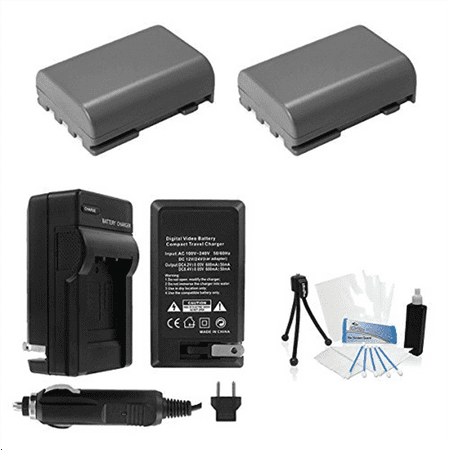 2-Pack NB-2L / NB-2LH High-Capacity Replacement Batteries with Rapid Travel Charger for Canon Digital Rebel XT, XTi, EOS 350D, 400D Digital Cameras. UltraPro Deluxe Accessory Set