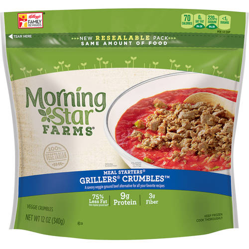 Morning Star Farms Grillers Recipe Veggie Crumbles, 12 oz