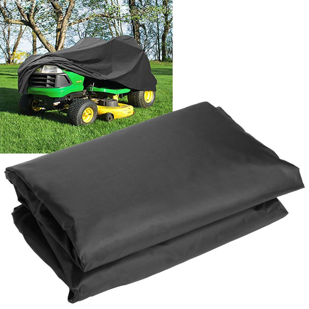 190T Mower Lawn Tractor Cover UV Resistant Storage Cover Garden Yard Riding, Black BETT by