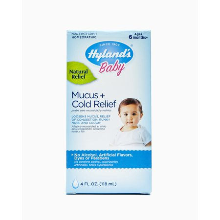 Hyland's Baby Mucus + Cold Relief, Natural Relief of Congestion, Runny Nose & Cough 4