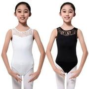 4-15Y Kids Girls Sleeveless Ballet Dancewear Leotard Clothes Gymnastics Costume