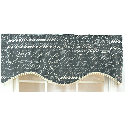 RLF Home Alphabet 50'' Curtain Valance