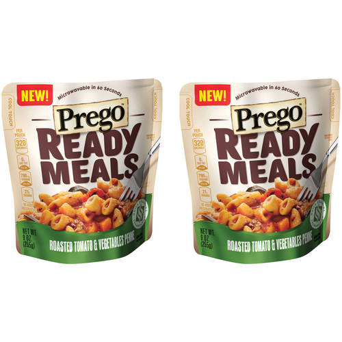 Prego Ready Meals Roasted Tomato & Vegetables Penne, 9 oz (Pack of 2)