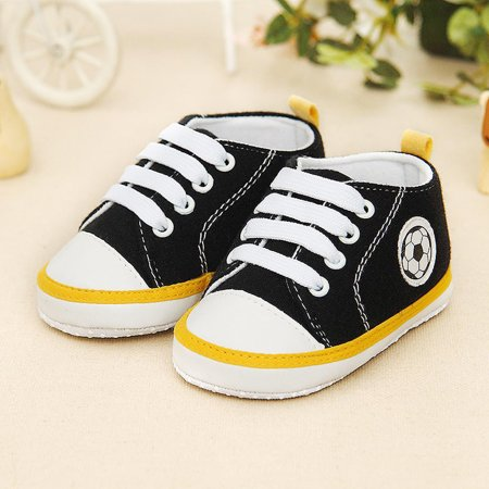 Newborn Infant Baby Football Print Sneaker Anti-slip Soft Sole Toddler - Football Baby