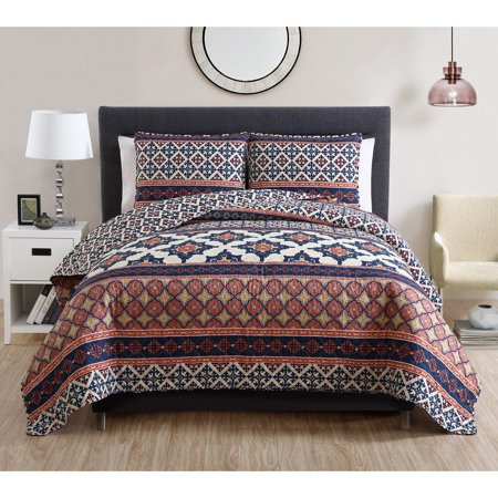 VCNY Home Felicity Geometric 2/3-Piece Bedding Quilt Set (Felicity Rose)