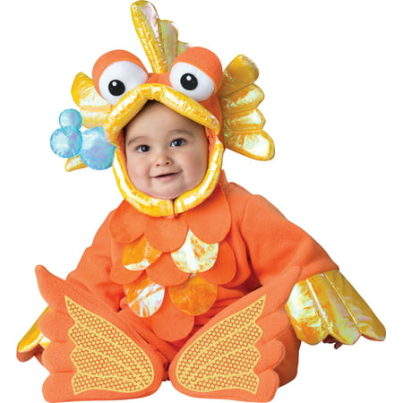Giggly Goldfish Deluxe Toddler size L 18 months-2T Costume Outfit InCharacter - Baby Goldfish Costume