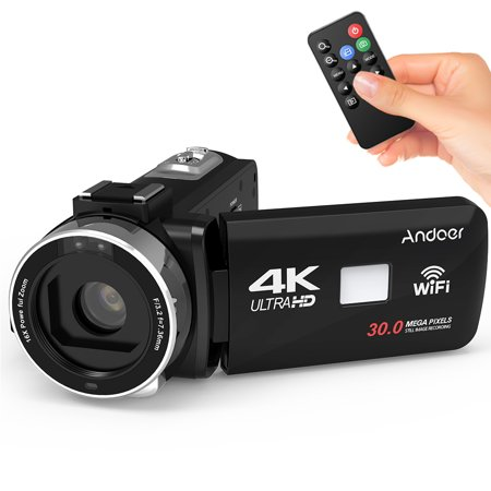 Andoer 4K Ultra WiFi Digital Video Camera Camcorder DV Recorder 16X Zoom 3.0