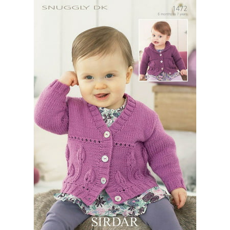 Girls Cardigans In Sirdar Snuggly Dk 1472 Knitting Pattern