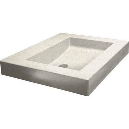 Swan WB 2218 010 Palladio 18 x 22 Composite Rectangular Vessel Sink Available in Various Colors