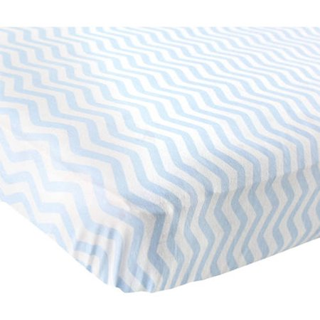 Baby Boy and Girl Fitted Crib Sheet - Blue Chevron
