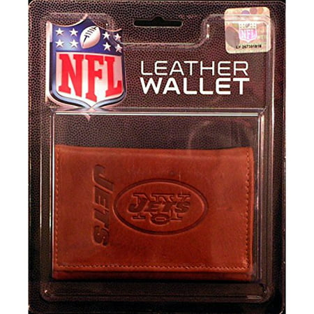 NFL New York Jets Leather Trifold Wallet ()