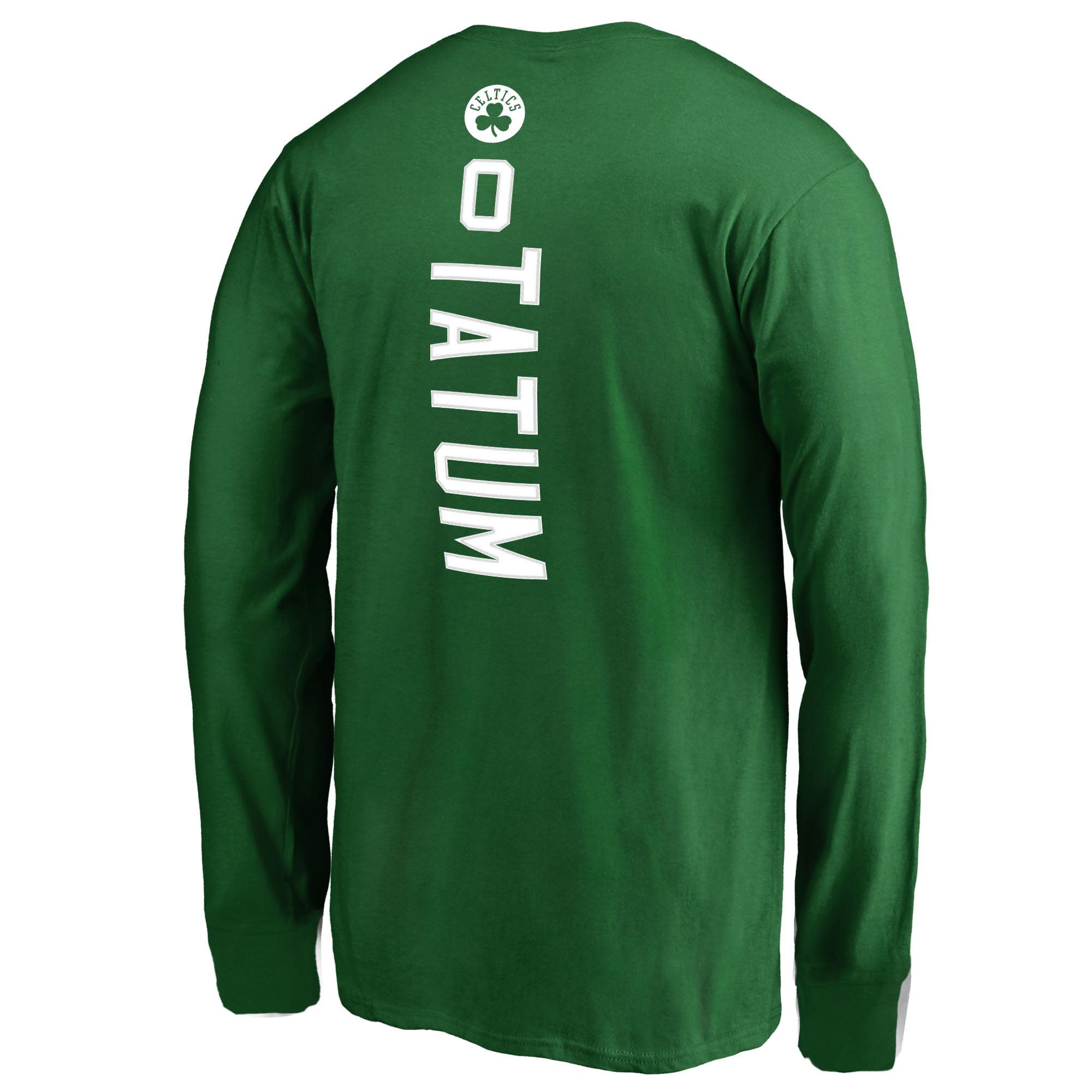 2db594ae529 Jayson Tatum Boston Celtics Fanatics Branded Youth Team Backer Name & Number  Long Sleeve T-Shirt - Kelly Green - Walmart.com