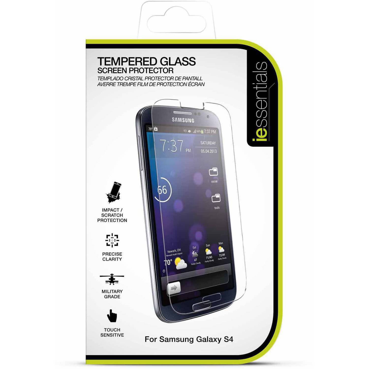 DigiPower Samsung Galaxy S4 Tempered Glass Screen Protector