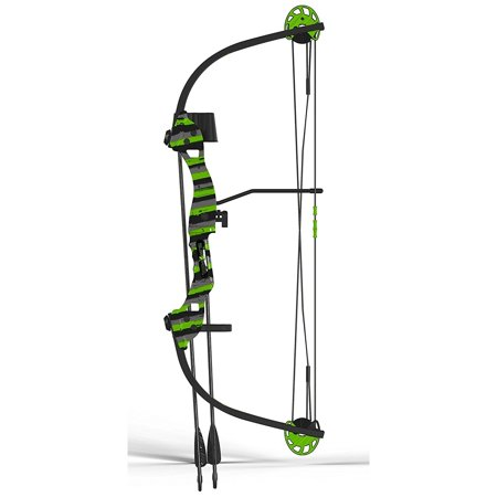 Compound Bow Set, Tomcat-2 Youth Girls Boys Compound Bow For Kids,  Green