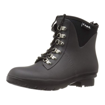 Roma Boots Women S Evol Lace Up Ankle Rain Boots