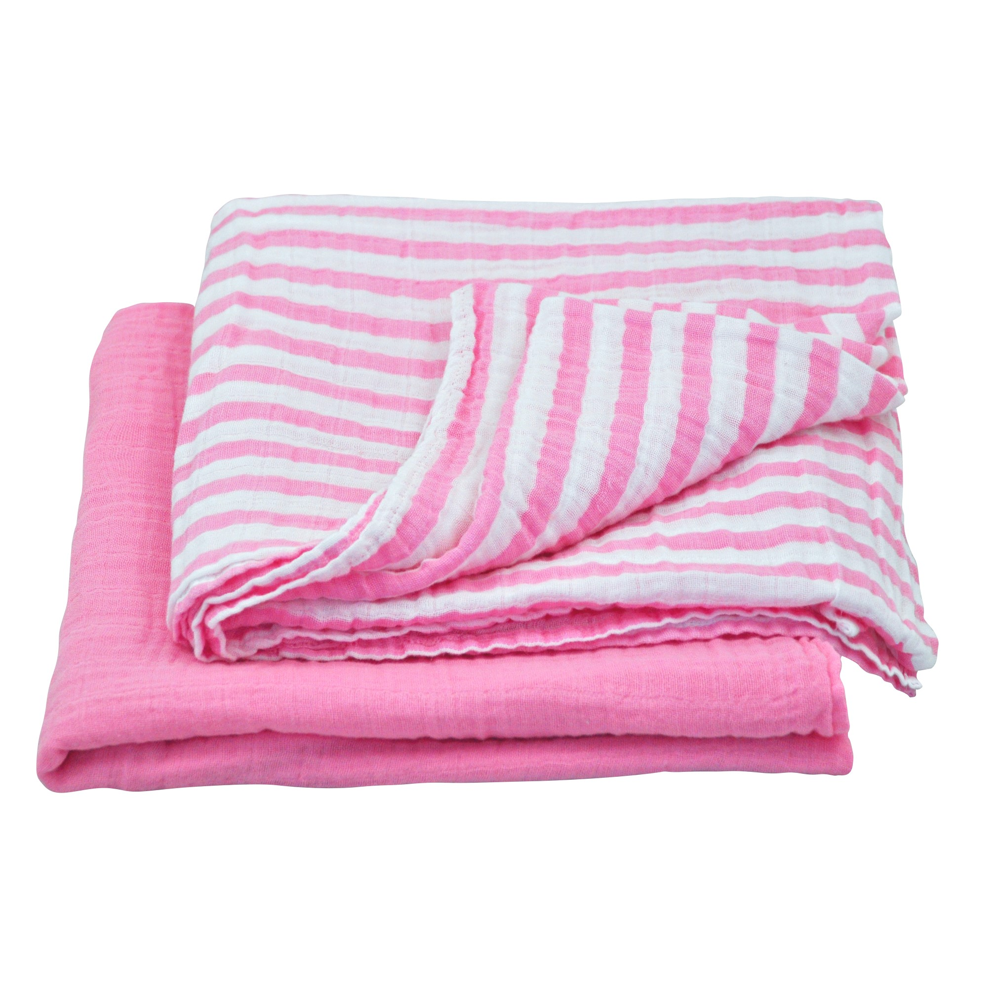 "green sprouts Muslin Swaddle Blanket made from Organic Cotton-Light Pink Set-44"" x 44"""