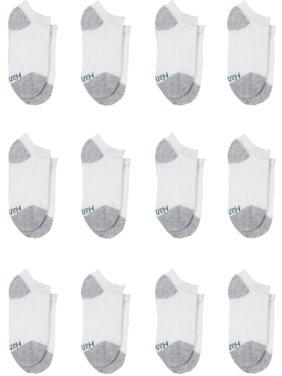Hanes Boys Socks, 12 Pack No Show Cushion Sizes S - L