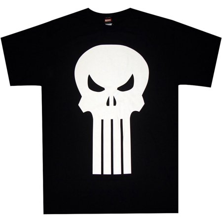 Punisher Plain Jane Logo Skull Adult T-Shirt (Plain Skulls To Decorate)