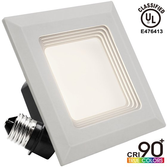 9w 4 Inch High Cri 90 Dimmable Retrofit Led Square Recessed Lighting Fixture Ul Classified