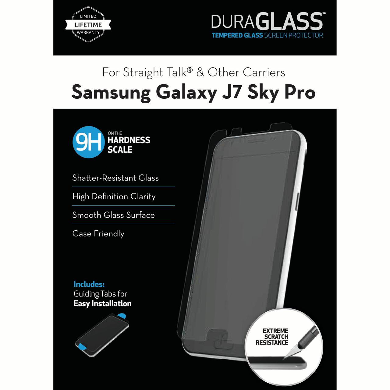 WriteRight DuraGlass Tempered Glass Screen Protector for Samsung Galaxy J7 Sky Pro (Also fits S727VL, J7 (2017))