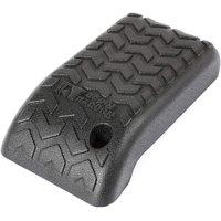 13104.60 Jeep Wrangler TJ/LJ Black Polyurethane Armrest Cover, Black By Rugged Ridge