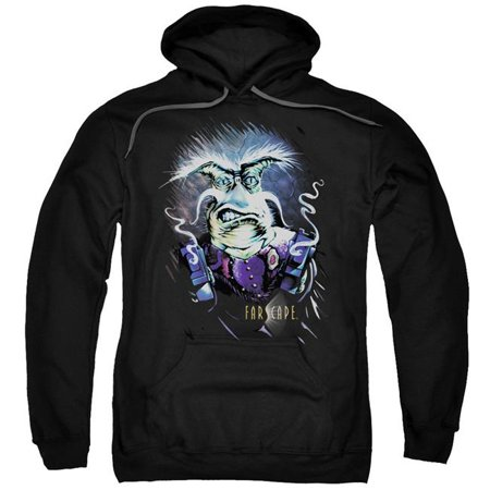 Trevco Sportswear FAR112-AFTH-6 Farscape & Rygel Smoking Guns-Adult Pull-Over Hoodie, Black - 3X - image 1 of 1